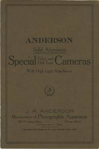 ANDERSON SOLID ALUMINUM SPECIAL COLOR AND HALF-TONE CAMERAS WITH HIGH LIGHT ATTACHMENT.; [cover title]