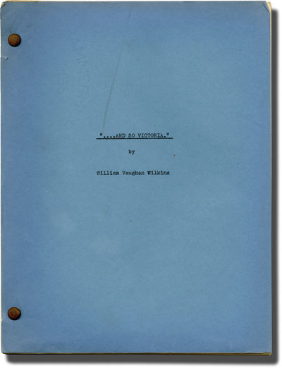 Los Angeles: David O. Selznick, 1937. Treatment script for an unproduced film, dated April 20, 1937....