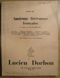 Ancienne litterature francaise: Catalogue 660