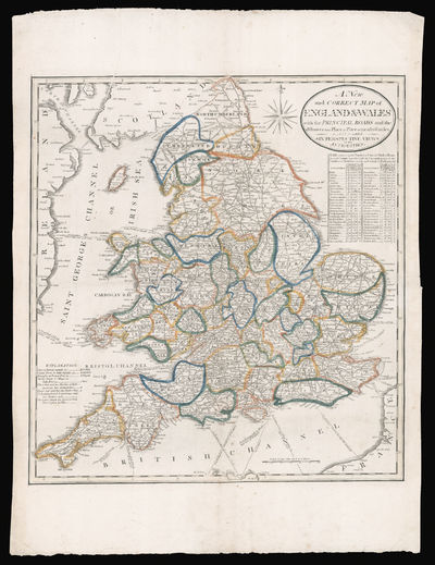 A New and Correct Map of England & Wales