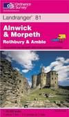 image of Alnwick and Morpeth, Rothbury and Amble (Landranger Maps)