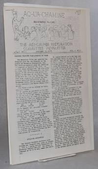 Aq-ua-chamine; (Menominee talking) the Menominee restoration committee newsletter; vol II no. 1 January 19, 1975