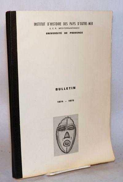 Provence: Université de Provence, 1975. 122p., 8.25x11.75 inches, printed recto only (mimeograph) t...
