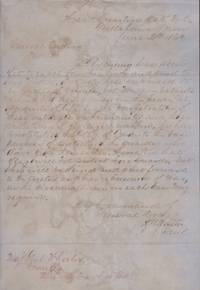1863 Confederate Document: Headquarters Dept. No 2, Tullahoma, Tenn. June 2d 1863. General Orders No 18 By Command of General Bragg. Signed H W Walter A.A. Genl