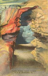 Pagoda Avenue, Lincoln Caverns, Huntington, Pa – unused linen Postcard