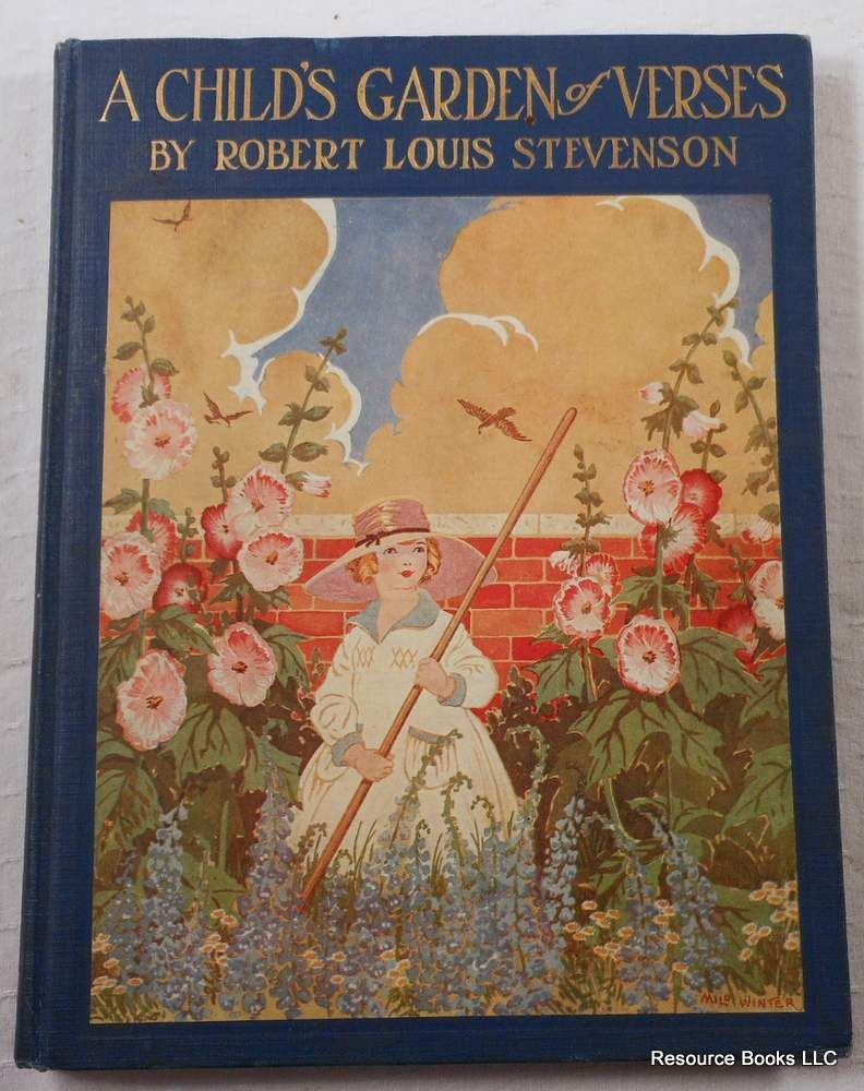 A Child 39 S Garden Of Verses By Stevenson Robert Louis Illustrated By Ruth Mary Hallock 1919