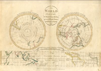 London: I. Johnson & C. Stalker. Very Good. 1791. Map. A sheet with three hand-colored maps, one eac...