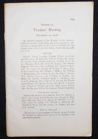 image of Minutes of Trustees' Meeting November 20, 1908 [and Nov. 30]
