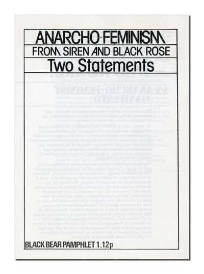 London: Black Bear, 1977. First Edition Thus. Folded pamphlet; 4pp. Fine. Includes two seminal works...