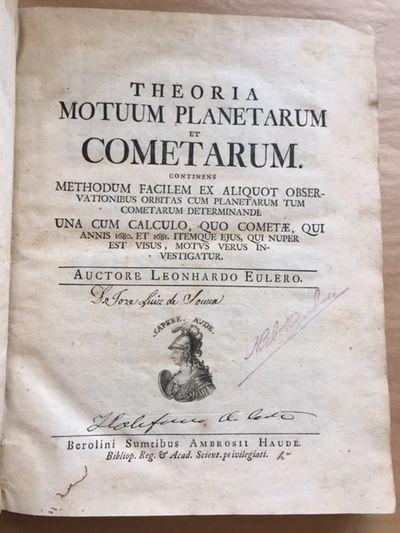 Theoria Motuum Planetarum et...