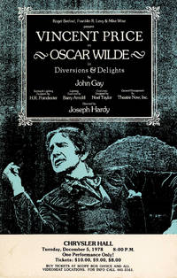 Vincent Price as Oscar Wilde in DIVERSIONS AND DELIGHTS (1978) Theatre poster