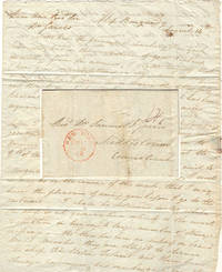 image of Letter from an American passenger describing the arrival of an immigration ship and informing a prominent, but despicable, Connecticut minister  that his long-suffering wife (who would soon initiate one of the most notorious divorce cases of the 19th century) would shortly be returning from Europe