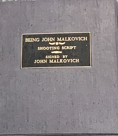 Shooting script of the iconic John Malkovich film made infinitely more special as it is signed (at o...