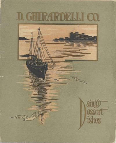 San Francisco: Ghirardelli Chocolate Company, 1900. Stapled booklet (15 x 12.5 cm.), pages. Illustra...