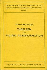Tabellen zur Fourier Transformation.