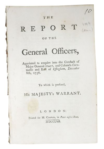 London: Printed for M. Cooper, 1757. 1st printing (ESTC T44730). Disbound, now housed in an archival...