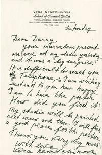 Autograph Letter Signed from Vera Nemtchinova to Daniel Selznick, circa 1968