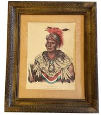 Hand Colored Lithographs of Wa Pel La, Chief of the Musquakees Native Americans
