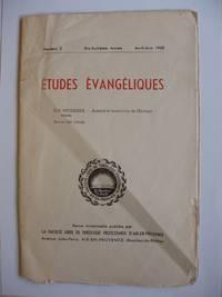 Études Évangéliques -- Numéro 2 - Dix-huitième Année - Avril-Juin 1958