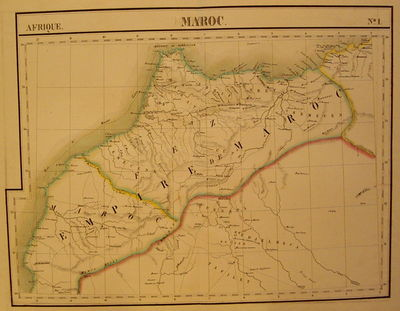 Brussels: Vandermaelen, Phillipe Marie, 1827. unbound. very good. Map. Large format lithograph with ...