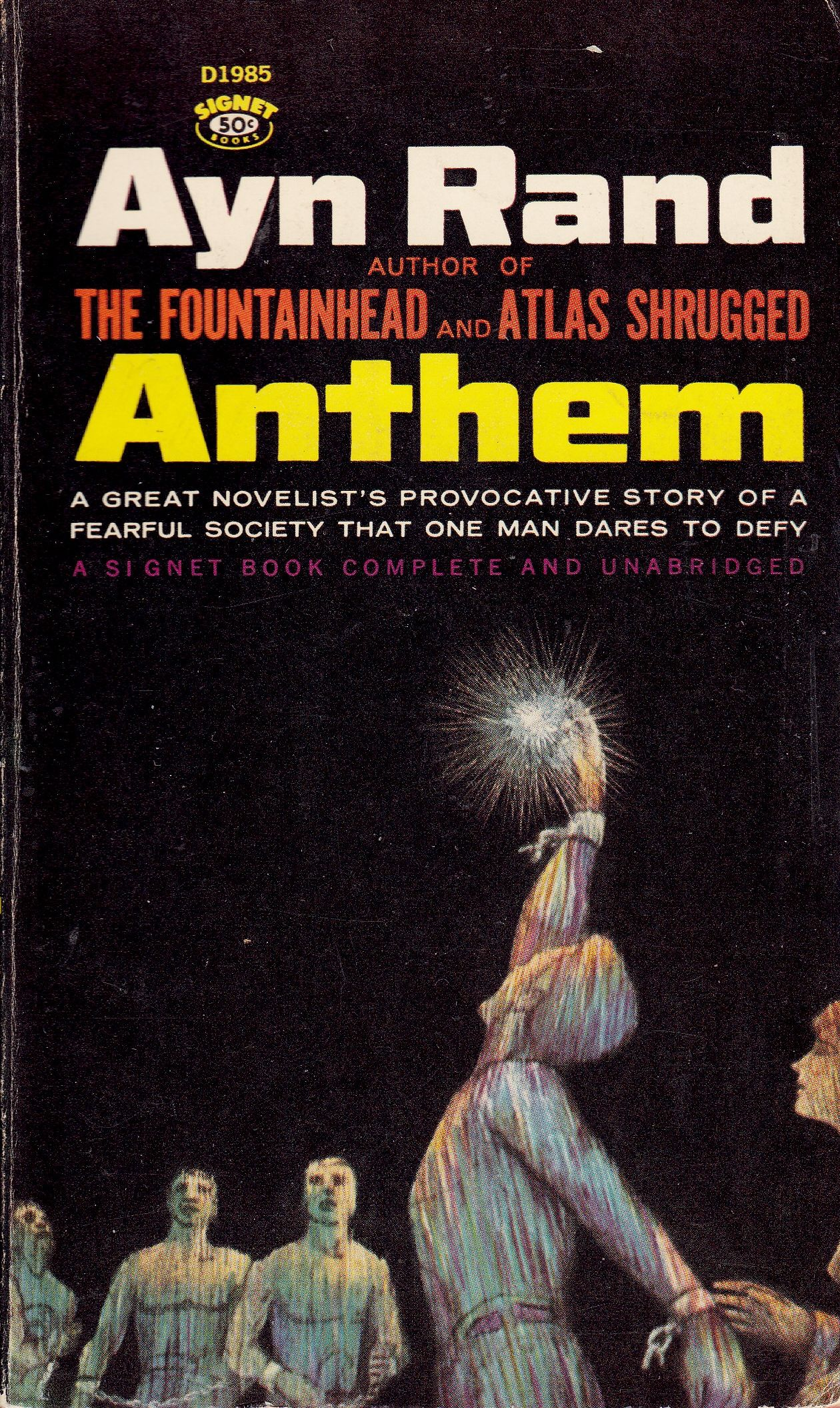 Anthem By Ayn Rand Paperback First Paperback Edition First