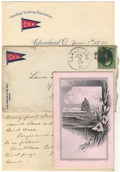 Cleveland, Ohio: Cleveland Yachting Association, 1880. Envelope or Cover. Very good. The bi-fold, ca...