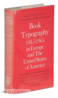 image of BOOK TYPOGRAPHY, 1815-1965 IN EUROPE AND THE UNITED STATES OF AMERICA