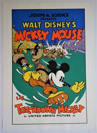 Mickey Mouse in TOUCHDOWN MICKEY: Serigraph Movie Poster