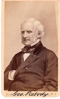 CARTE DE VISITE OF AMERICAN BUSINESSMAN & PHILANTHROPIST GEORGE PEABODY, PHOTOGRAPHED BY GURNEY & SON