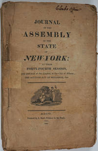 Journal of the Assembly of the State of New-York, at Their Forty- Fourth Session (1820-1821)
