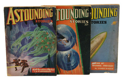 New York: Street and Smith, 1936. First Edition. Very Good. Three wrappered issues of the sci-fi and...