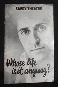 image of Program from Whose Life is it Anyway? by Brian Clark at the Savoy Theatre, Starring Tom Conti