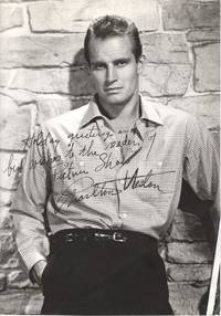 image of Fine vintage Paramount photo with printed signature and inscription (Charlton, 1924-2008, American Actor and Political Activist)