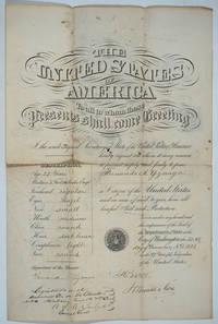 image of 1872 American Passport, signed by Hamilton Fish and Fernando Yznaga