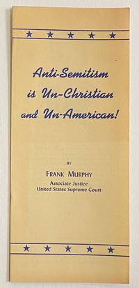 image of Anti-Semitism is Un-Christian and Un-American!