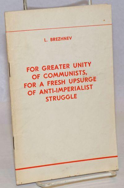 Moscow: Novosti Press Agency Publishing House, 1969. 54p., staplebound booklet, minor handling. Text...