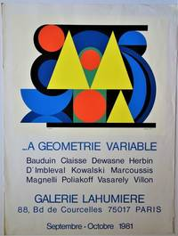 A Geometrie Variable, Galerie Lahumiere, Septembre - Octobre 1981: Exhibition Poster