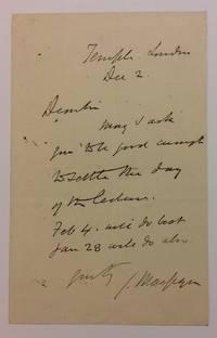 Autographed Signed Letter