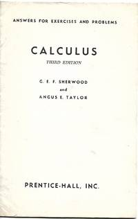 Calculus: Answers for Excercises and Problems