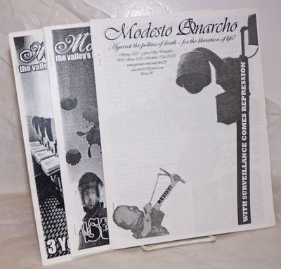 Modesto, CA: Modesto Anarcho, 2010. Three issues, all staplebound photocopied zine format, 8.5x11 in...
