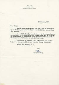 image of Typed Letter Signed from Peter Benchley to Daniel Selznick, 1968
