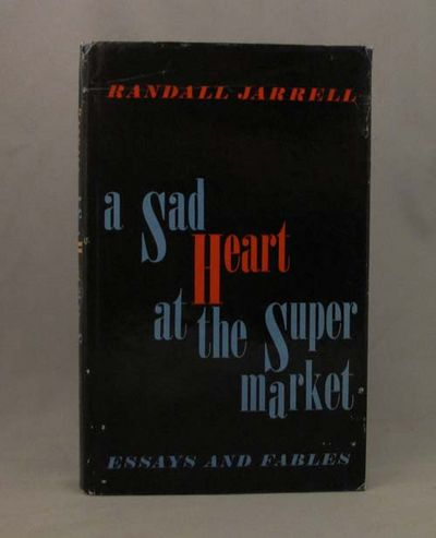 a sad heart at the supermarket essays & fables 1965 234 pages purple jacket over cloth boards pages and binding are presentable with no major defects minor issues present such as mild cracking, inscriptions, inserts, light foxing, tanning and thumb marking.