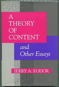 image of A Theory of Content and Other Essays
