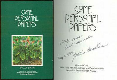 SOME PERSONAL PAPERS, Bradham, Joallen
