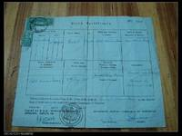 Judaica: A Birth Certificate of Jew Rachel Isaac (Borned in 1885) , issued by Sephardic Jewish Community of Shanghai China in 1954