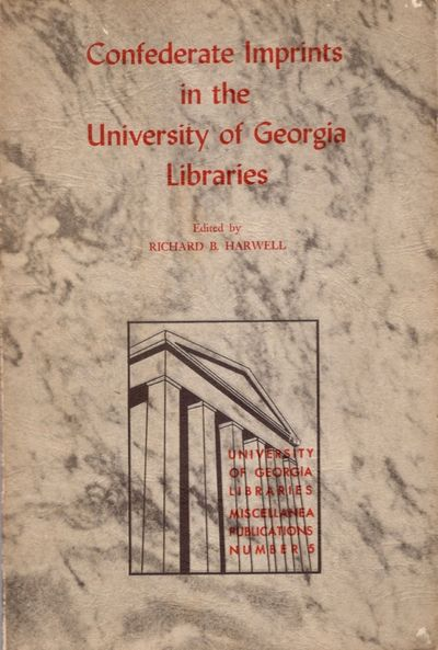 Athens: University of Georgia Press, 1964. First Edition. Soft cover. Good +. 8vo. 49 pages. Illustr...