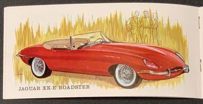 New York: Jaguar Cars Inc, (n. d.). 1st printing, ca 1961. Printed glossy white paper wrappers, stap...