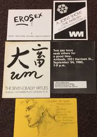 [Five different handbills and small posters for art exhibits at The Ambush in San Francisco]