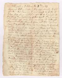 Rare 1777 Revolutionary War soldier\'s letter written from Stillwater, NY regarding the Battle of Saratoga