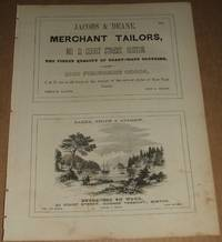 1853 Four 1/2 Page Ads for Engravers, Tailors, Plate Glass, Merchant  Tailors